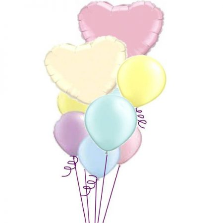 Balloon bq 5 Pastel Hearts