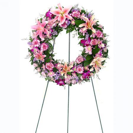 Serene Blessing Standing Wreath (WR04)